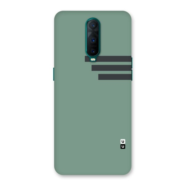Solid Sports Stripe Back Case for Oppo R17 Pro