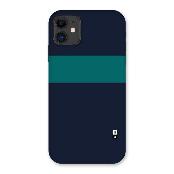 Stripe Block Back Case for iPhone 11