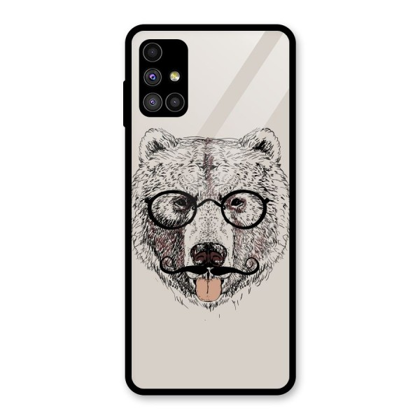 Studious Bear Glass Back Case for Galaxy M51