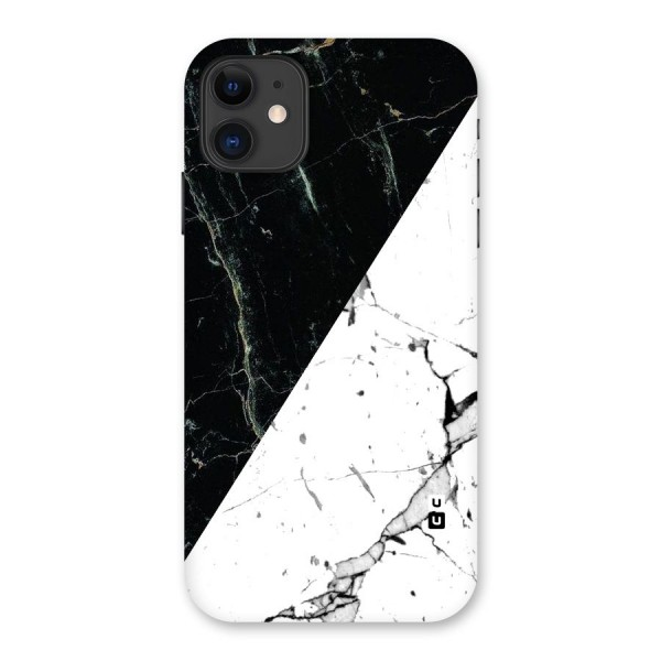Stylish Diagonal Marble Back Case for iPhone 11