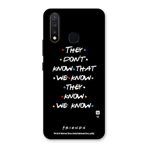 They Dont Know Back Case for Vivo U20