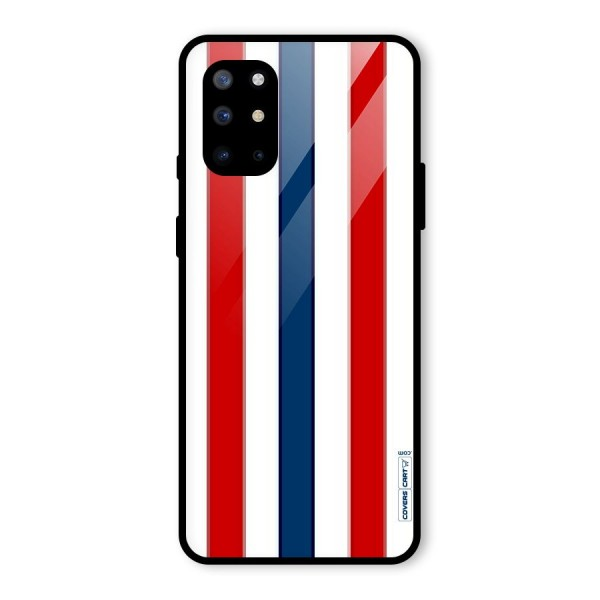 Tricolor Stripes Glass Back Case for OnePlus 8T