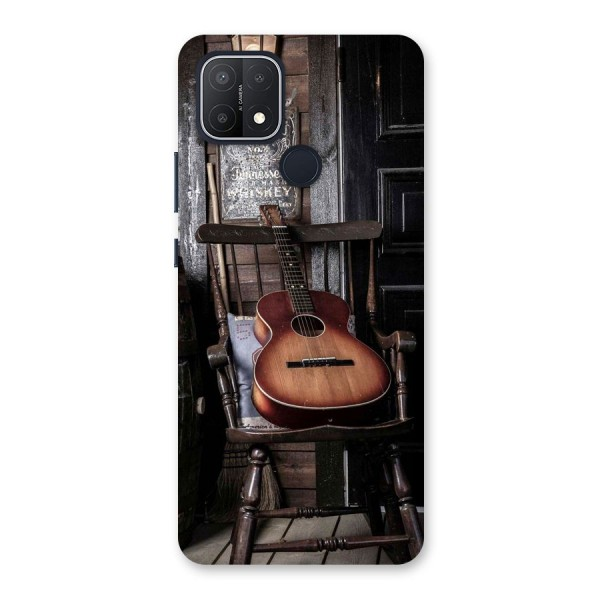 Vintage Chair Guitar Back Case for Oppo A15s