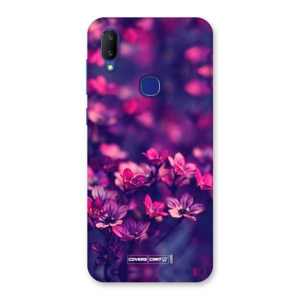 Violet Floral Back Case for Vivo V11