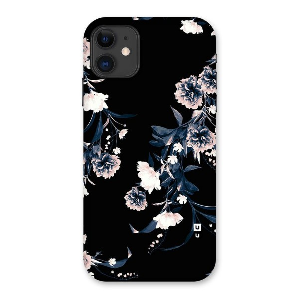 White Flora Back Case for iPhone 11