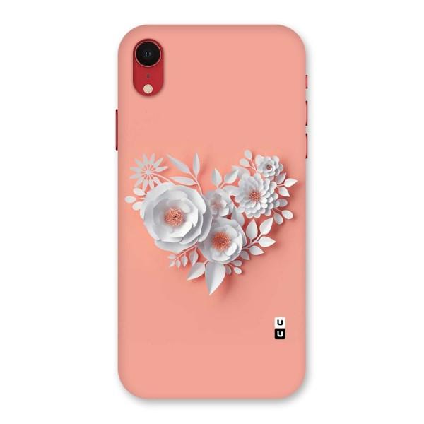 White Paper Flower Back Case for iPhone XR