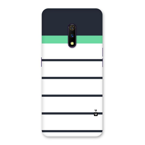 White and Simple Stripes Back Case for Realme X