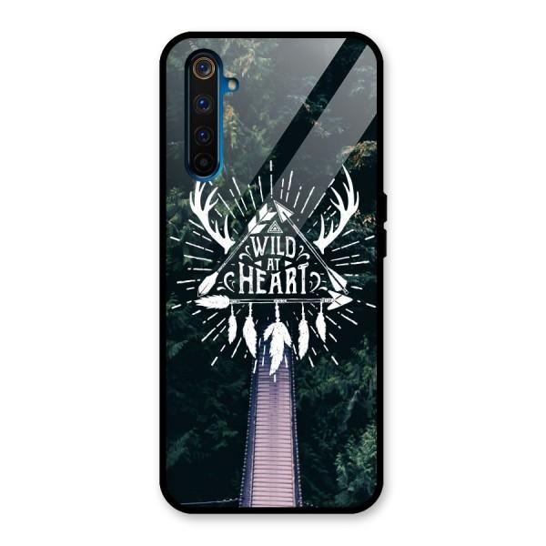 Wild Heart Glass Back Case for Realme 6 Pro