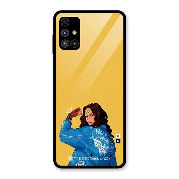 Wonder Woman Girl Power Glass Back Case for Galaxy M51