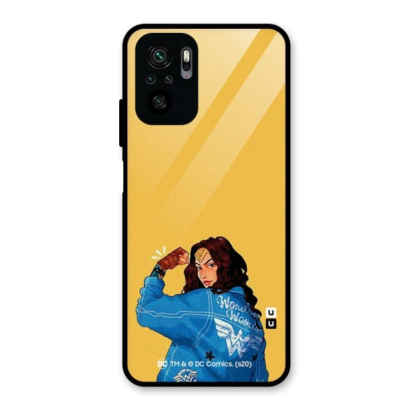 Wonder Woman Girl Power Glass Back Case for Redmi Note 10