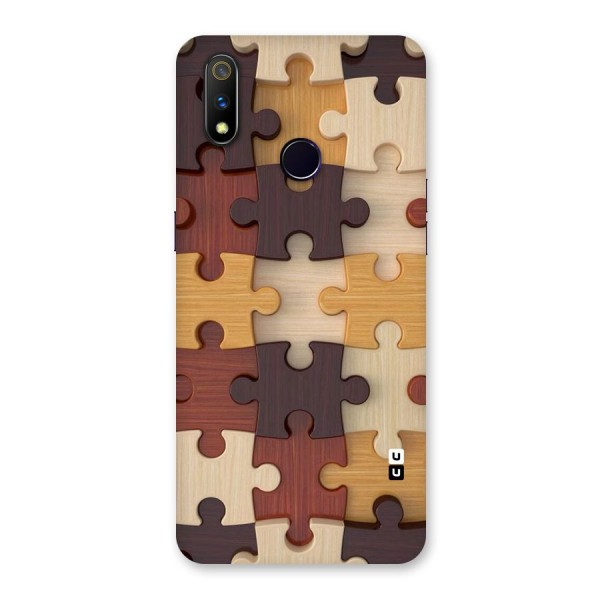Wooden Puzzle (Printed) Back Case for Realme 3 Pro