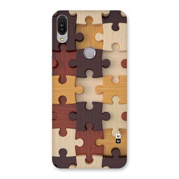 Wooden Puzzle (Printed) Back Case for Zenfone Max Pro M1