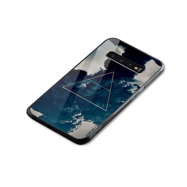 Blue Hue Smoke Glass Back Case for Galaxy S10 Plus