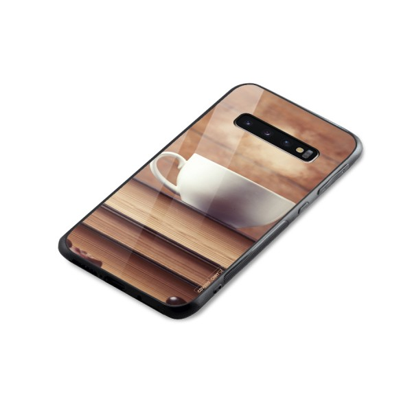 Coffee And Bookworm Glass Back Case for Galaxy S10 Plus