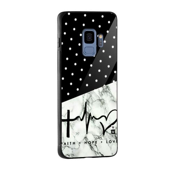 Faith Love Glass Back Case for Galaxy S9