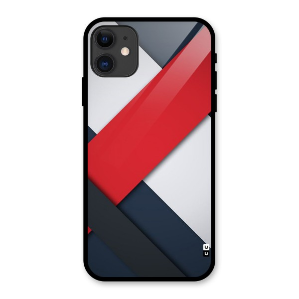 Classic Bold Glass Back Case for iPhone 11