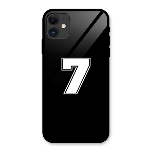 Number 7 Glass Back Case for iPhone 11
