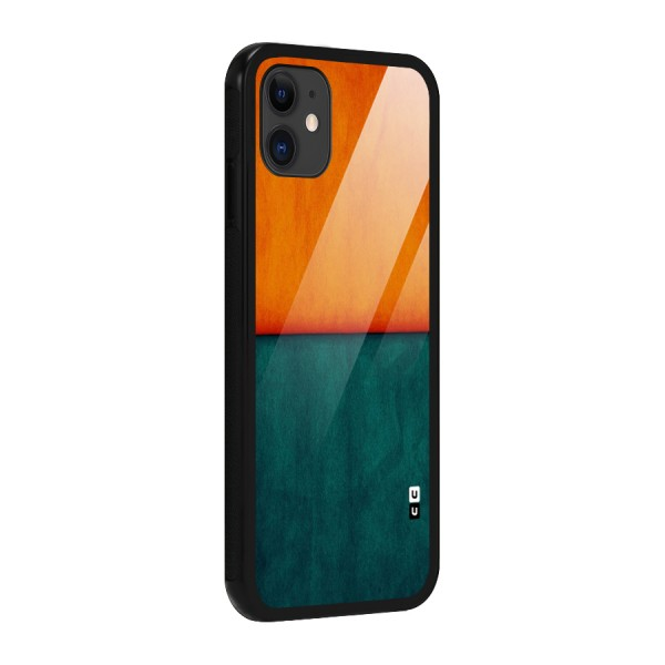 Orange Green Shade Glass Back Case for iPhone 11