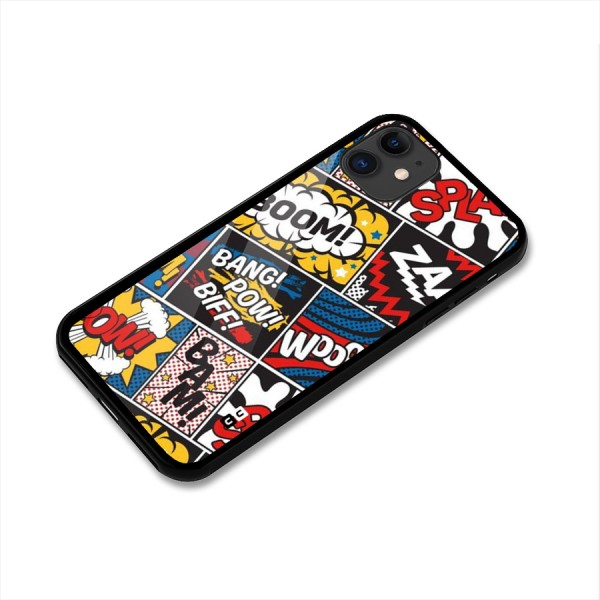 Bam Pattern Glass Back Case for iPhone 11