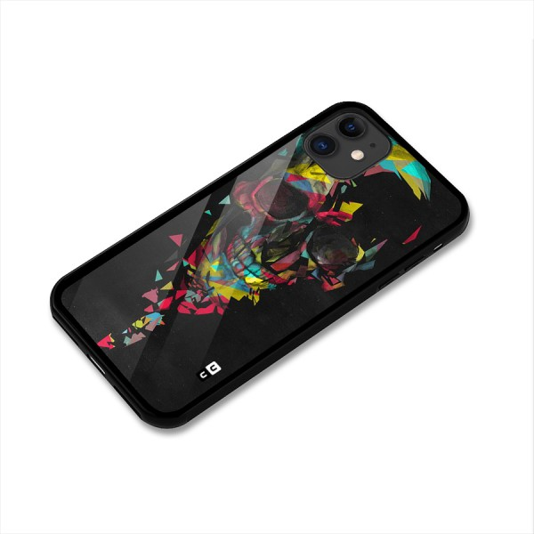 Colored Skull Shred Glass Back Case for iPhone 11