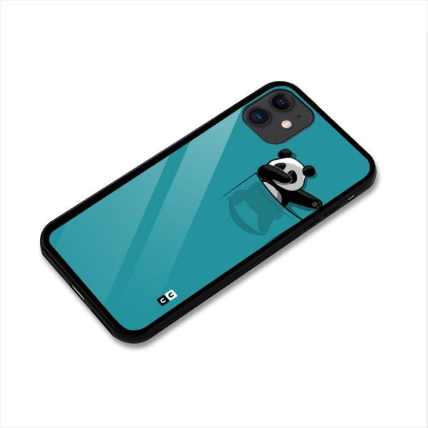 Panda Dabbing Away Glass Back Case for iPhone 11