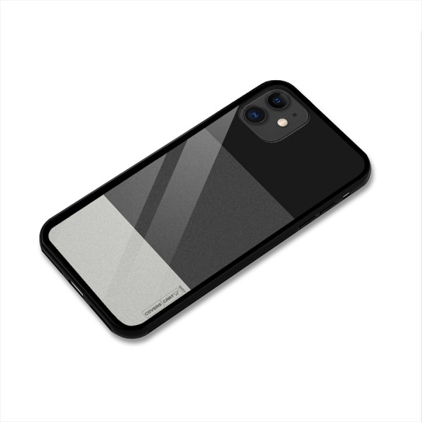 Pastel Black and Grey Glass Back Case for iPhone 11