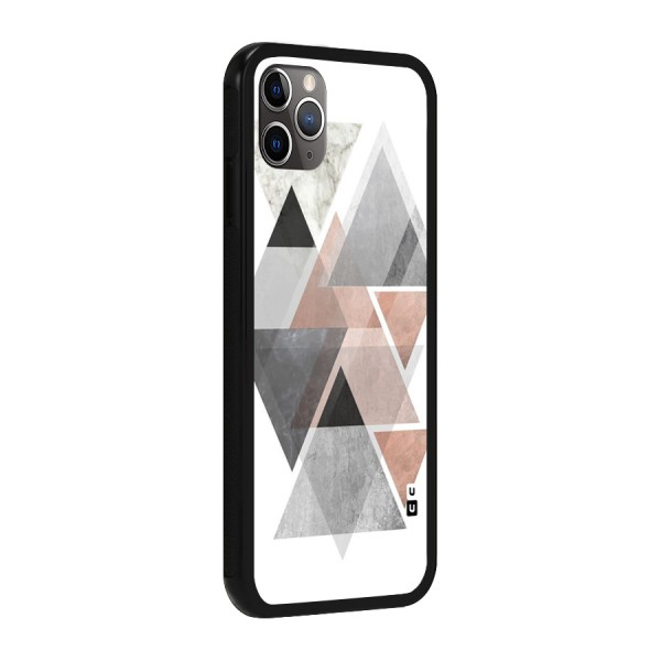 Abstract Diamond Pink Design Glass Back Case for iPhone 11 Pro Max