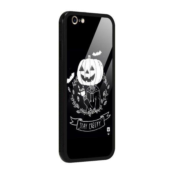 Stay Creepy Glass Back Case for iPhone 6 6S