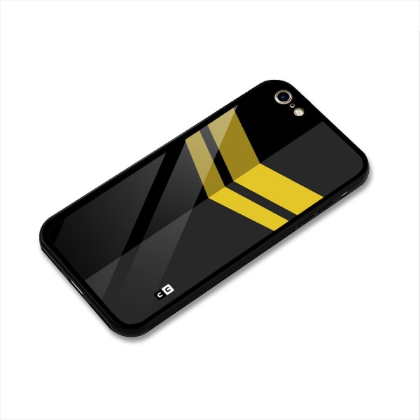 Yellow Lines Glass Back Case for iPhone 6 6S
