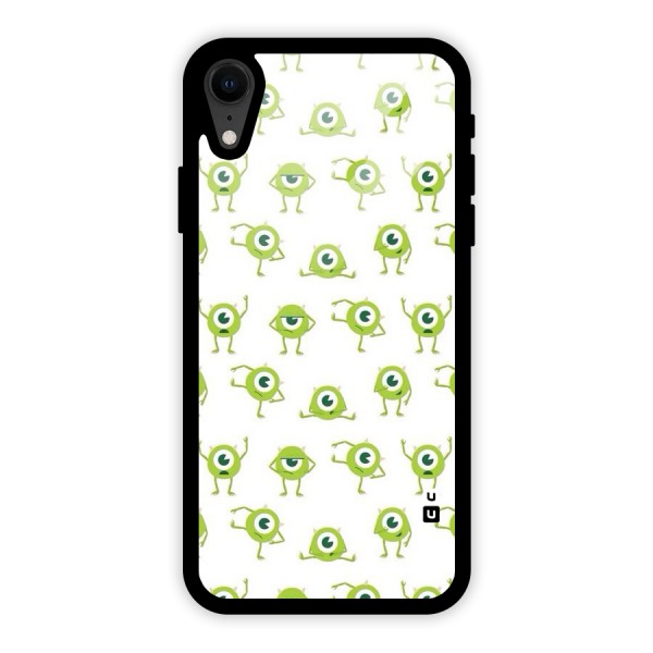 Crazy Green Maniac Glass Back Case for iPhone XR