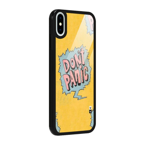 No Panic Glass Back Case for iPhone XS