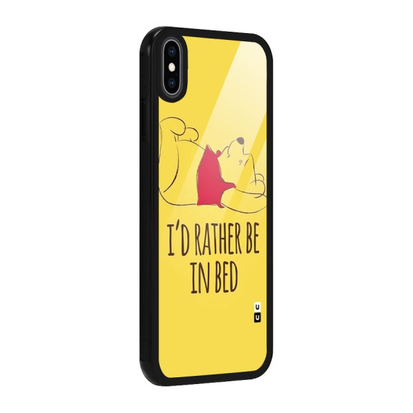 Rather Be In Bed Glass Back Case for iPhone XS Max