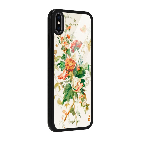 Summer Floral Glass Back Case for iPhone XS Max