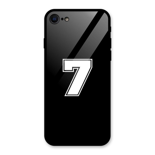 Number 7 Glass Back Case for iPhone 7