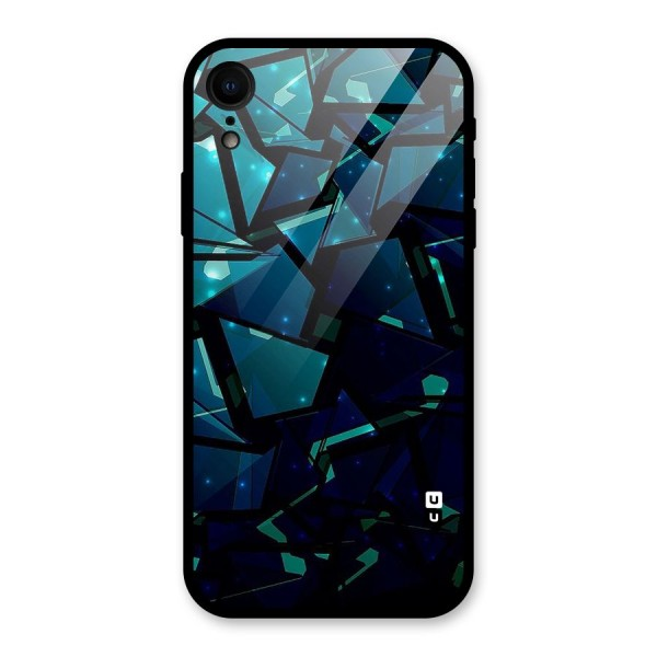 Abstract Glass Design Glass Back Case for iPhone XR
