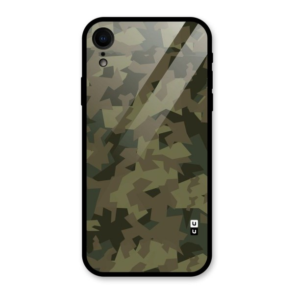 Army Abstract Glass Back Case for iPhone XR