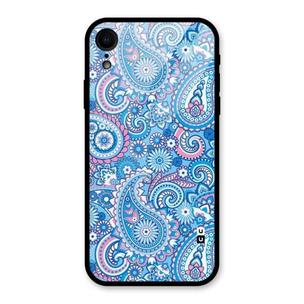 Artistic Blue Art Glass Back Case for iPhone XR