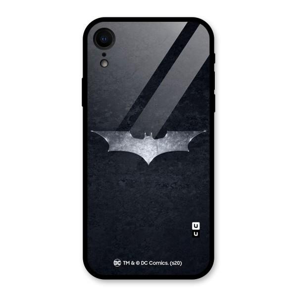 Batman Symbol Glass Back Case for iPhone XR