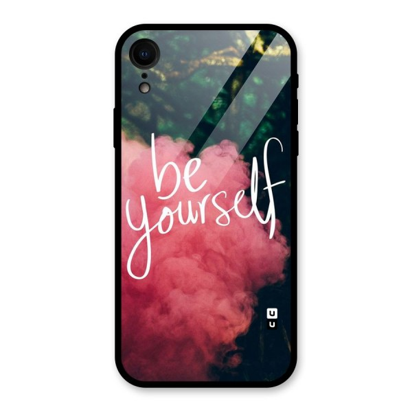 Be Yourself Greens Glass Back Case for iPhone XR