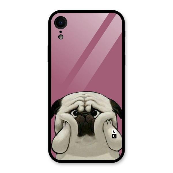 Chubby Doggo Glass Back Case for iPhone XR