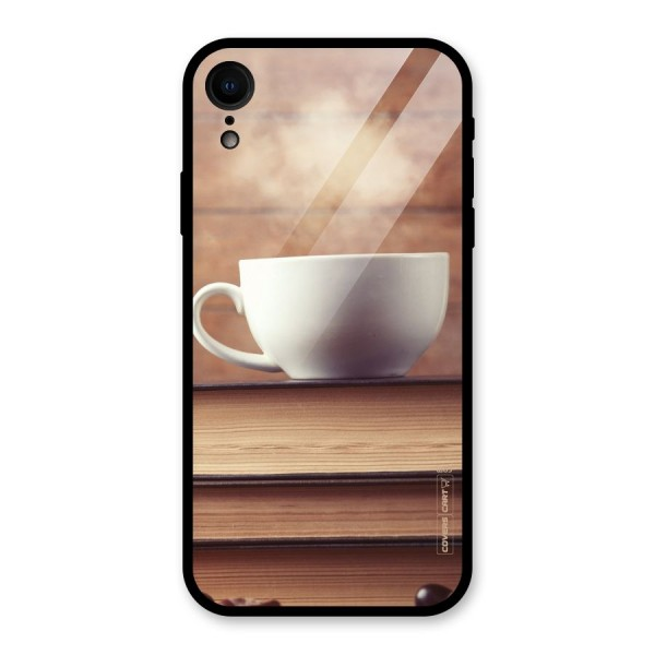 Coffee And Bookworm Glass Back Case for iPhone XR