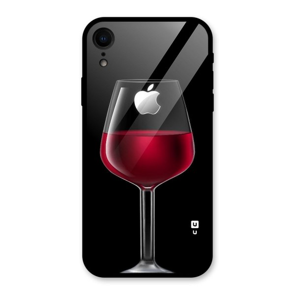 Fruit Printed Design Glass Back Case for iPhone XR