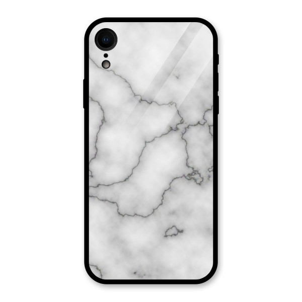 Grey Marble Glass Back Case for iPhone XR