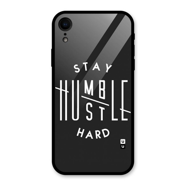 Hustle Hard Glass Back Case for iPhone XR
