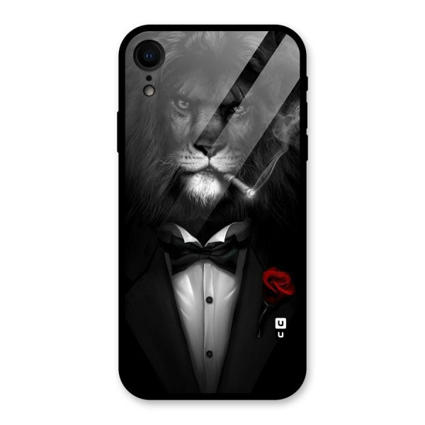 Lion Class Glass Back Case for iPhone XR