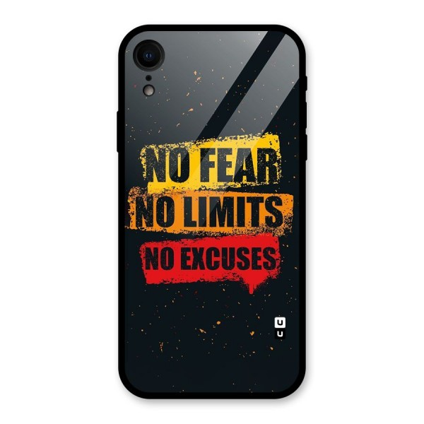 No Fear No Limits Glass Back Case for iPhone XR
