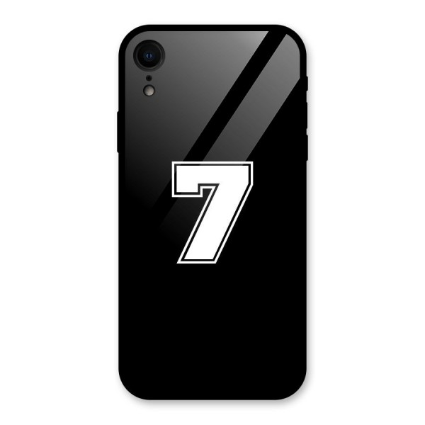 Number 7 Glass Back Case for iPhone XR