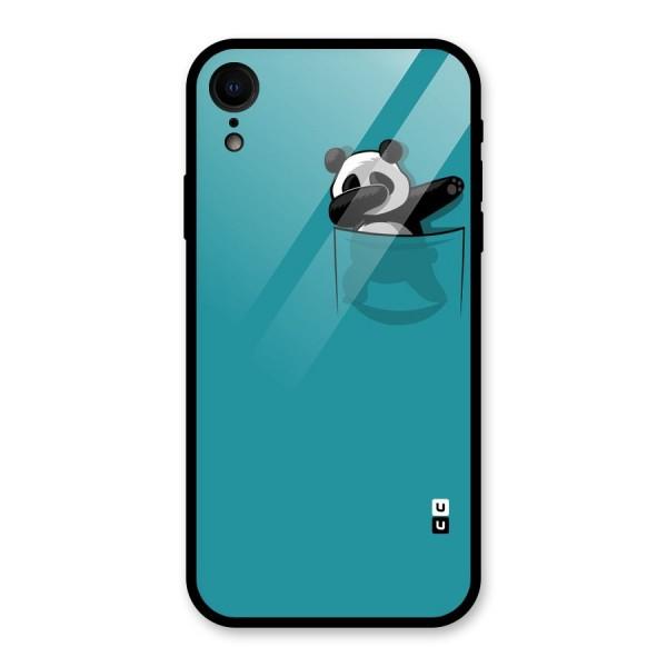 Panda Dabbing Away Glass Back Case for iPhone XR