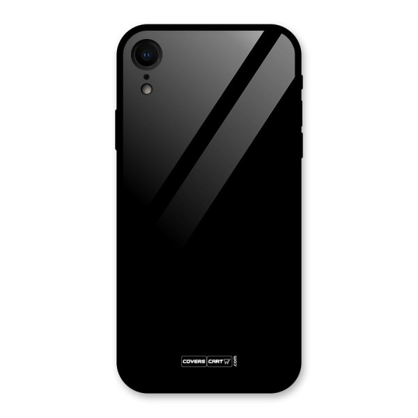 Simple Black Glass Back Case for iPhone XR