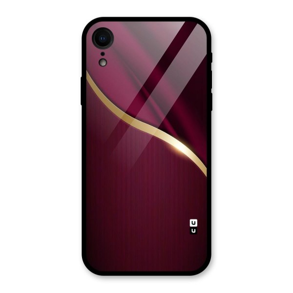 Smooth Maroon Glass Back Case for iPhone XR